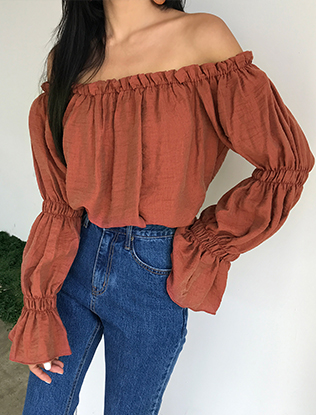 Frilly Off-Shoulder Blouse