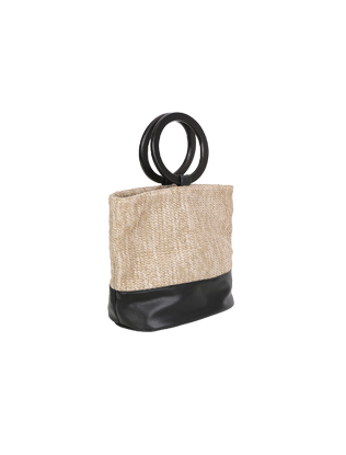 Round Handle Woven Bag