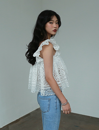 Cropped Lace Blouse