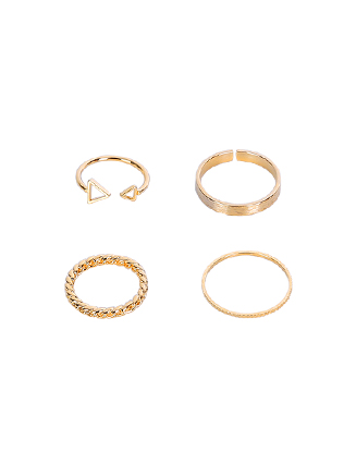 Four-Piece Gold-Tone Ring Set