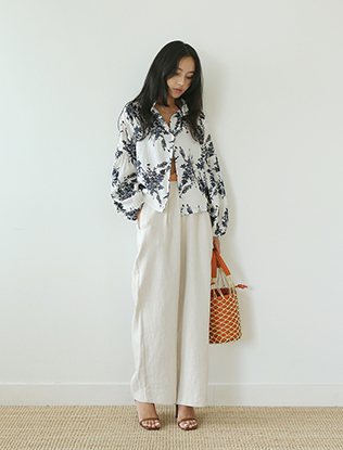 High Waist Wide Leg Linen Pants