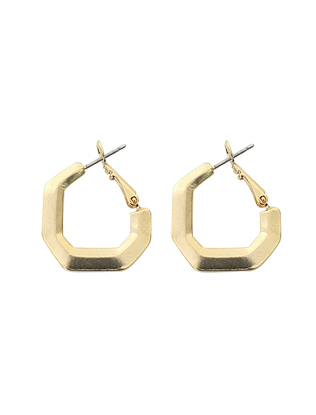 Gold Tone Snap Post Earrings