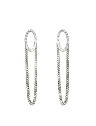 Chain Accent Earrings