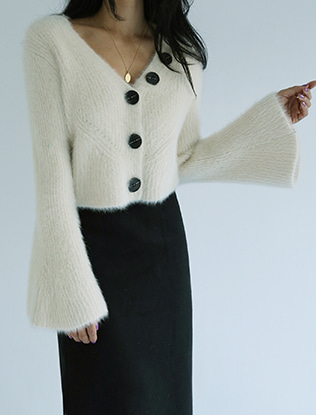 Bell Sleeves Cropped Cardigan