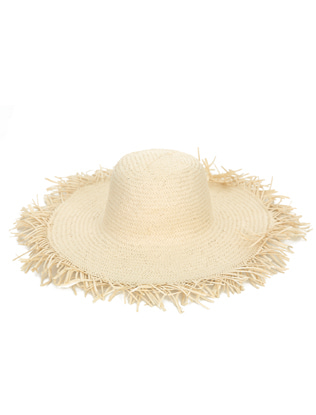 Wide Brim Fringed Hat