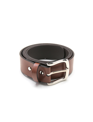 Solid Tone Tongue Buckle Belt