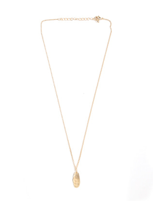 Oval Pendant Chain Necklace