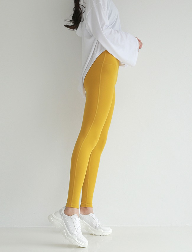 Mustard High Waist Sports Leggings
