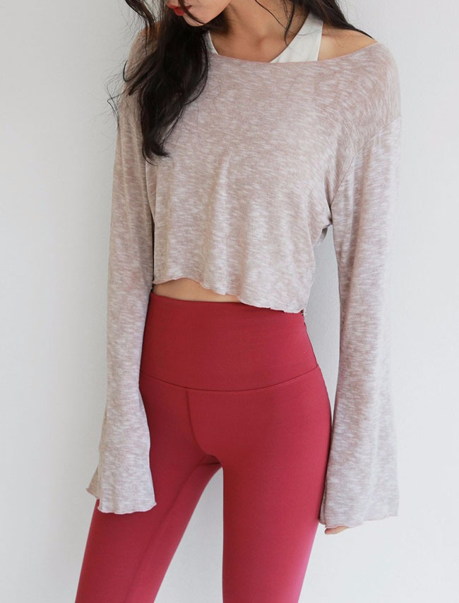 Extended Sleeve Crop Top