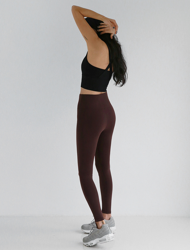 Pecan Brown Brushed Winter Leggings