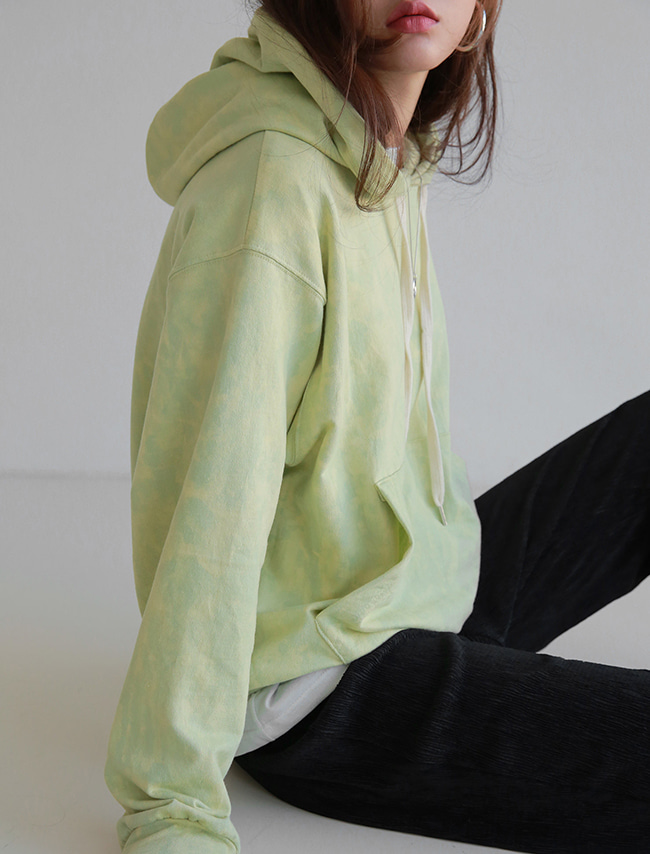 Green Watercolor Hooded Sweatshirt