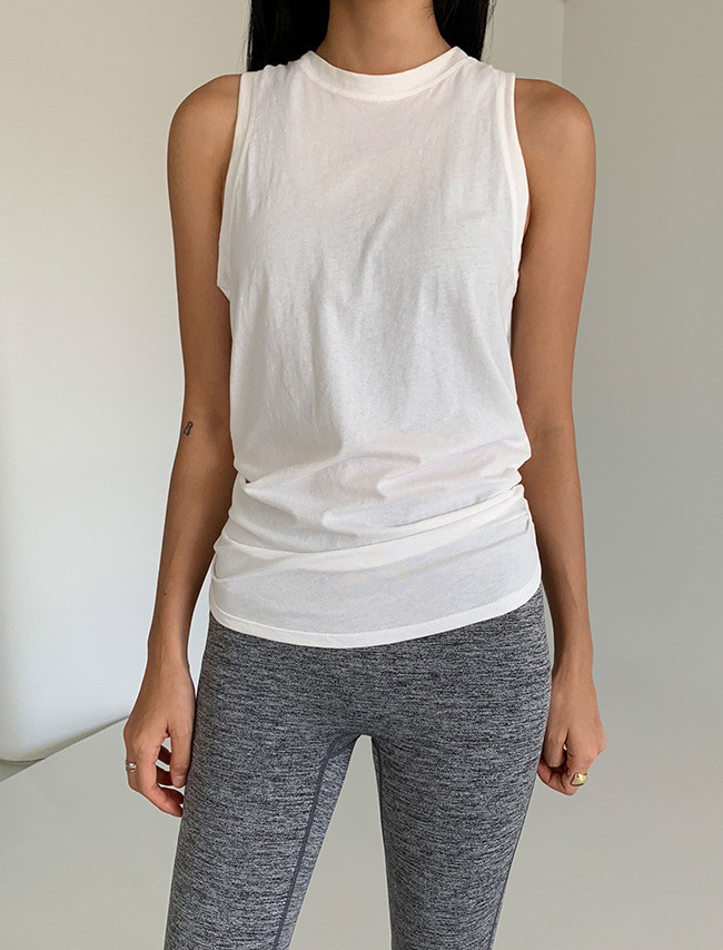 Ivory Open Back Sleeveless Top