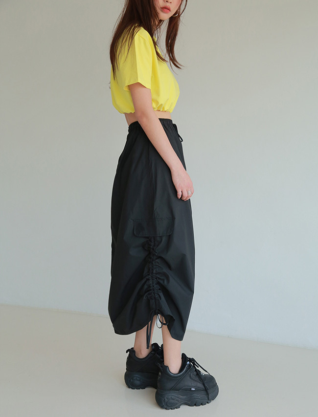 Shirred Sides Skirt