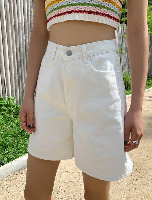 Basic High Waist Midi Shorts