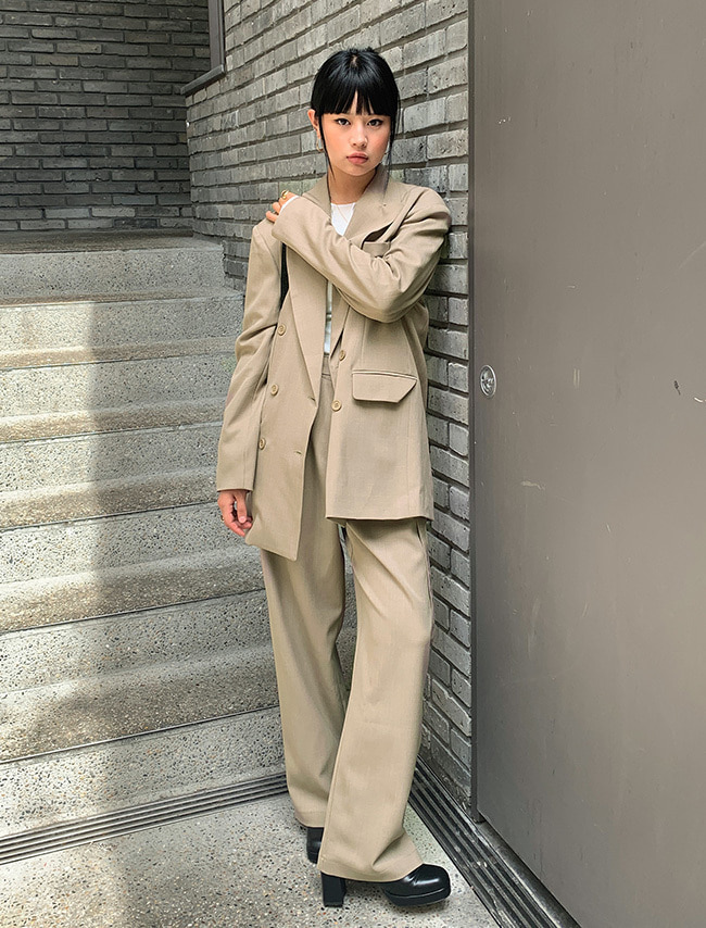 Double-Breasted Baggy Pantsuit