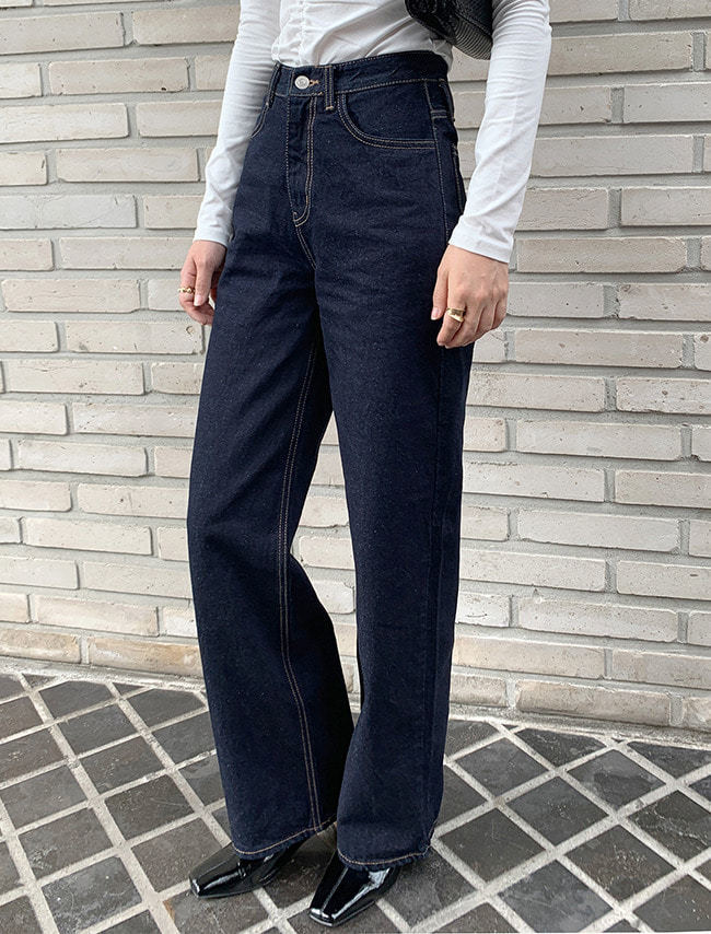 Wide Leg Dark Denim Jeans
