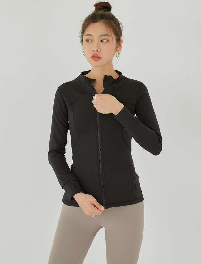 Black Zip-Up Training Jacket