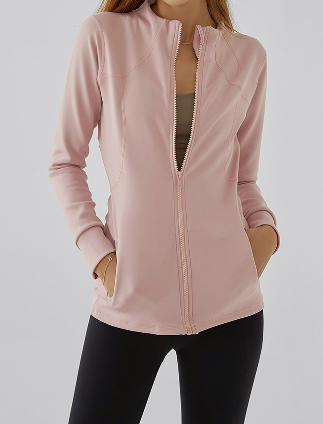 Pink Zip-Up Training Jacket