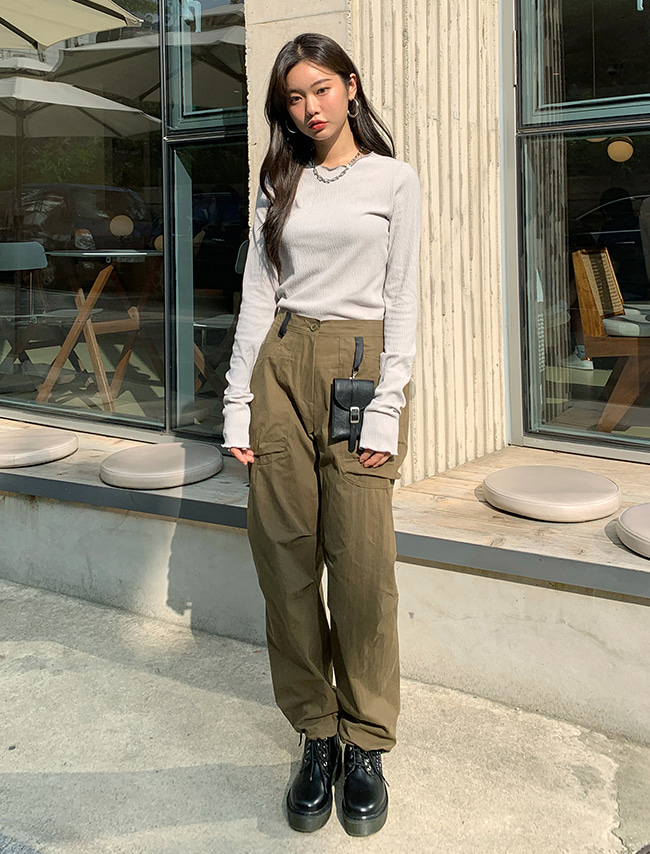 Pull Cord Cuffs Cargo Pants