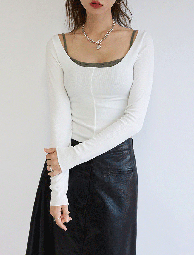 Slim Fit Scoop Neck Cropped T-Shirt
