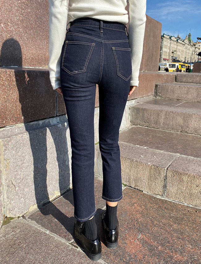 Slim Fit Selvedge Fleece-Lined Jeans
