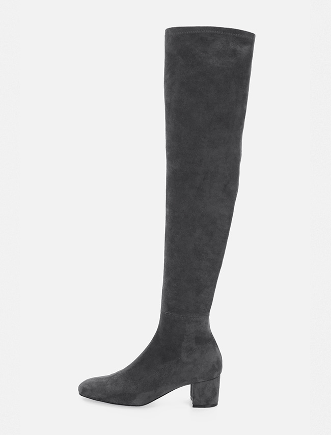Charcoal Thigh-High Boots