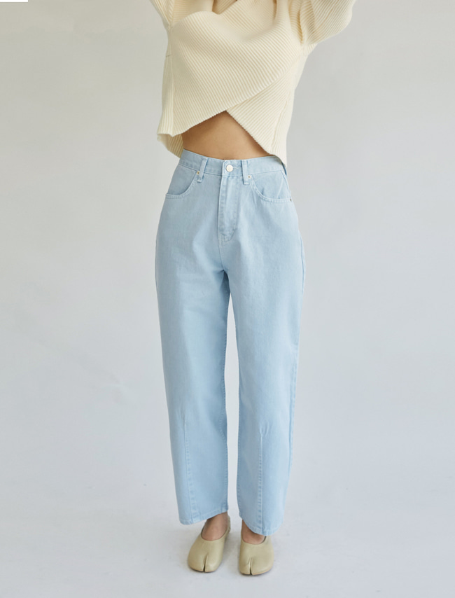 Baggy Straight Pastel Pants