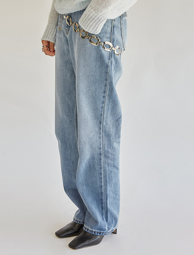 Basic Straight Washed Jeans