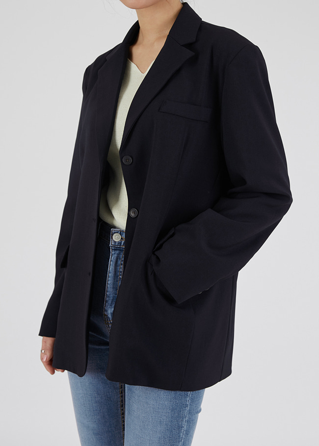 Loose Fit Single-Breasted Jacket