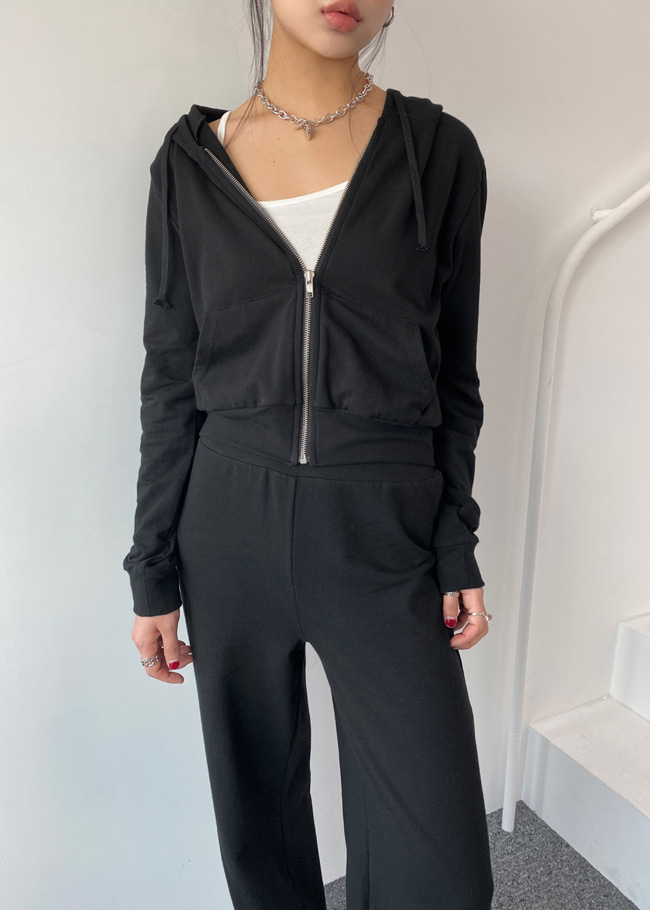Zip-Up Hoodie and Sweatpants Workout Set