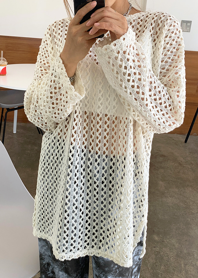 Mesh Cover-Up T-Shirt
