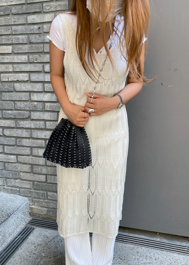 Sleeveless Midi Knit Dress