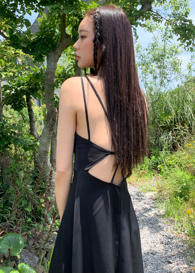 X Strap Open Back Dress