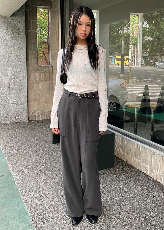 Wide Leg Big Pocket Pants