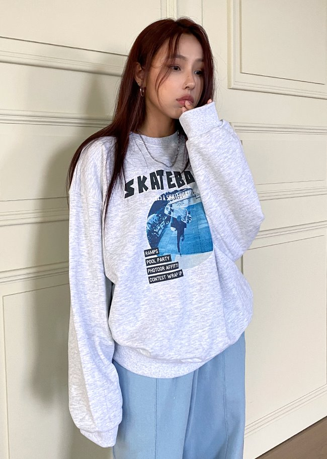 Skateboard Printed Sweatshirt
