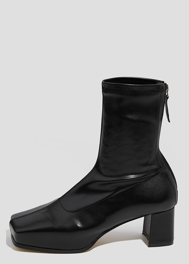 Platform Back Zip Ankle Boots