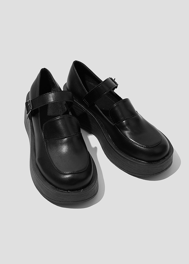 Mary Jane Strap Loafers