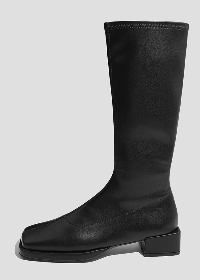 Solid Tone Slim Fit Heeled Boots