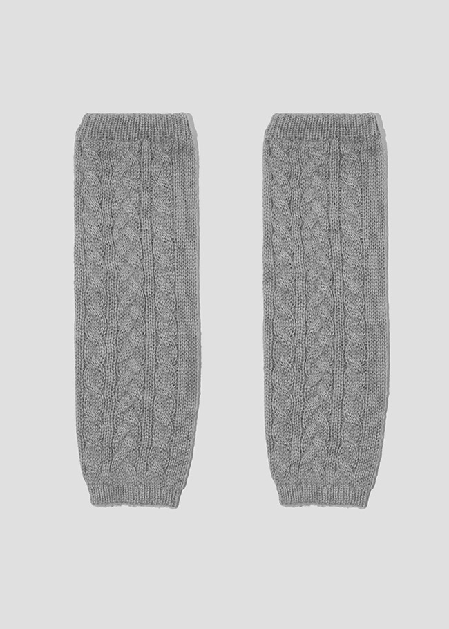 Cable Knit Woolen Arm Warmers