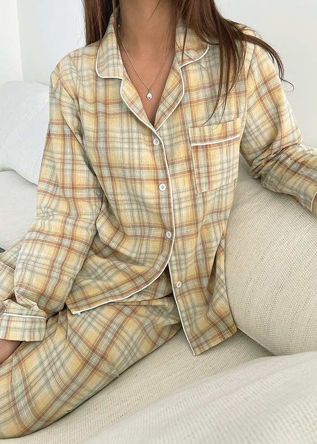 Pastel Check Pajama Set