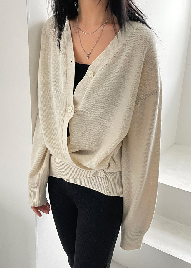 Two-Way Buttoned Cardigan