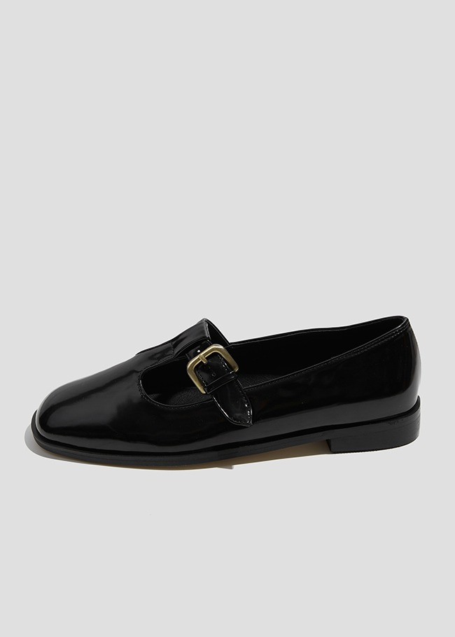 Buckled T-Strap Loafers
