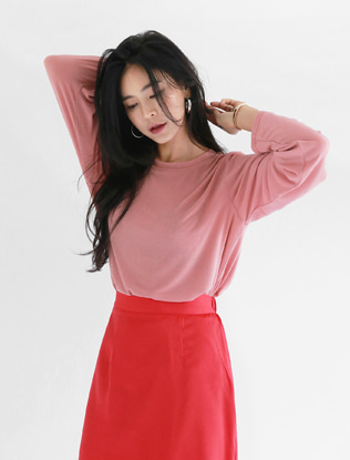 Long-Sleeved Pink T-Shirt