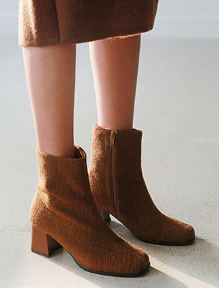 Side Zip Knitted Boots