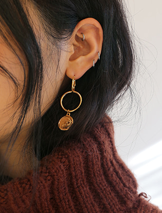 Unbalanced Medallion Earrings