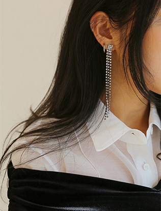 Cubic Rainfall Earrings