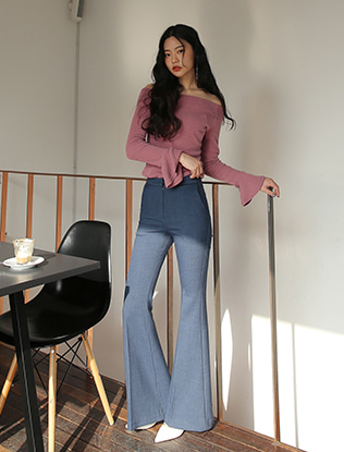 High Waist Boot Cut Slacks