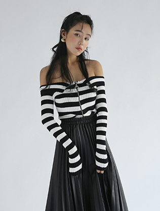 Wide Neck Stripe Top