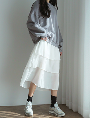 Tiered Sweatshirt Dress
