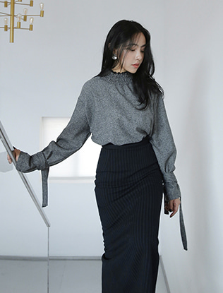 Strap Cuffs Blouse